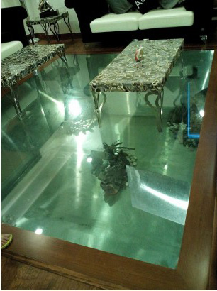 Floor aquarium sagar fish aquarium for Floor fish tank